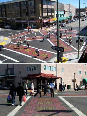 Oakland Chinatown Pedestrian Scramble
