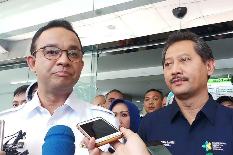 Gubernur DKI Jakarta Anies Baswedan di RSUD Tarakan, Rabu (22/5/2019).