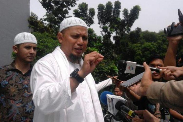 Ustadz Arifin Ilham saat di Mapolda Metro Jaya, Kamis (3/11/2016).