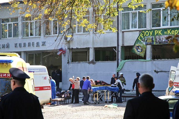 Penembakan brutal oleh seorang siswa di Kota Kerch Semenanjung Crimea, Rusia