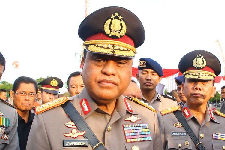 Wakapolri Komjen Syafruddin di Mataram, Senin (28/5/2018)