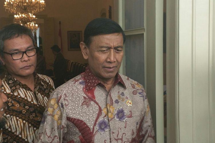 Menteri Koordinator bidang Politik, Hukum dan Keamanan Wiranto di Istana Bogor, Kamis (16/11/2017).
