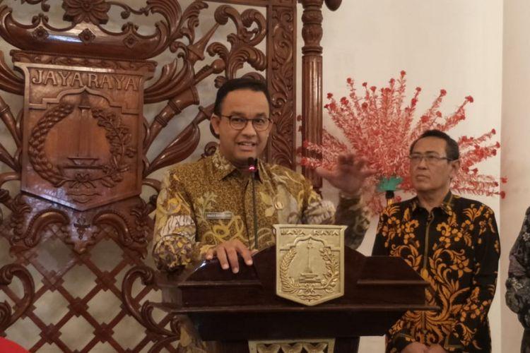 Gubernur DKI Jakarta Anies Baswedan di Balai Kota DKI Jakarta, Jalan Medan Merdeka Selatan, Kamis (24/1/2019).