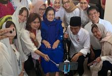 Jokowi Silaturahim dengan Istri Mantan Wapres Umar Wirahadikusuma