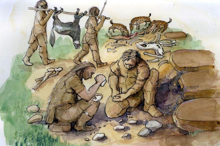 Ilustrasi Neanderthal
