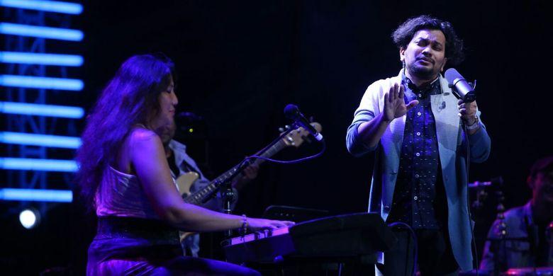 Tompi tampil Java Jazz Festival (JJF) 2017, JIExpo Kemayoran, Jakarta Pusat, Jumat (3/3/2017) malam.