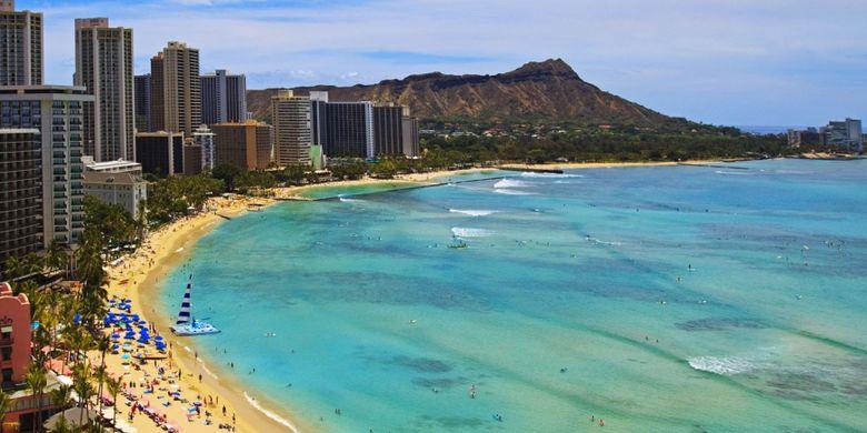 Mengenal Pantai Waikiki Hawaii, Impian Ridwan Kamil untuk Pantai Pangandaran