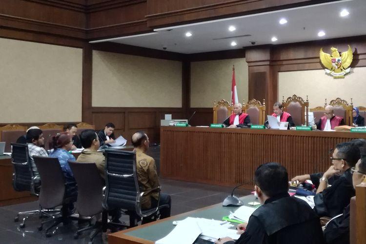 Jaksa Komisi Pemberantasan Korupsi (KPK) menghadirkan 4 orang sebagai saksi di persidangan terdakwa mantan Direktur Utama PT PLN Sofyan Basir, di Pengadilan Tindak Pidana Korupsi, Jakarta, Senin (22/7/2019).