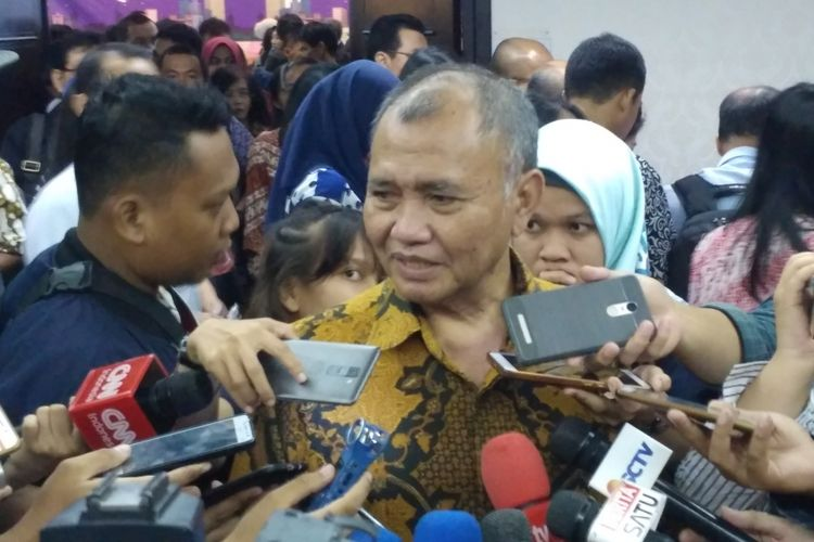 Ketua KPK Agus Rahardjo saat ditemui di PPATK, Jakarta, Selasa (17/4/2018).