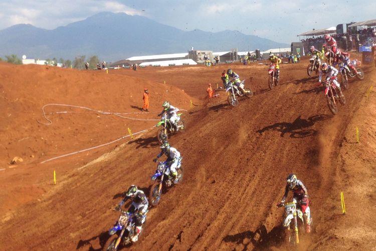 Babak kualifikasi MXGP seri ke-13 di Semarang, Jawa Tengah, Sabtu (7/7/2018)