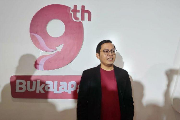 CEO Bukalapak, Ahmad Zaky di acara HUT BUkalapak ke-9 di Jakarta, Kamis (10/1/2019).