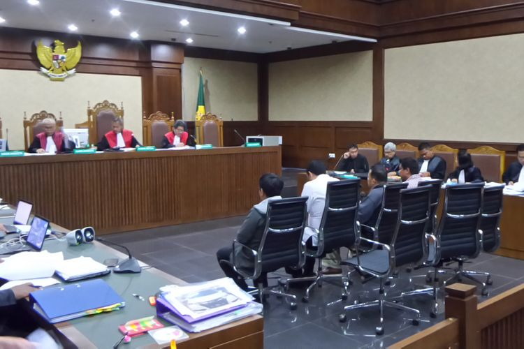Sidang kasus suap auditor BPK Ali Sadli di Pengadilan Tipikor Jakarta, Senin (8/1/2018).