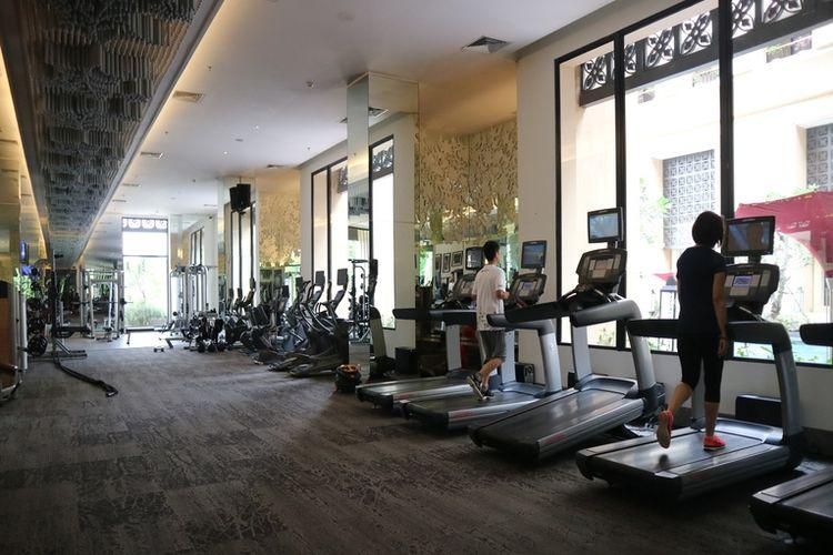 Pusat kebugaran di Hotel Tentrem, Yogyakarta.