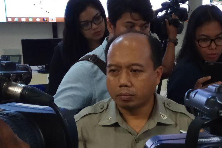 Kepala Pusat Data dan Informasi Badan Nasional Penanggulangan Bencana (BNPB), Sutopo Purwo Nugroho menerangkan bahwa pihaknya telah memetakan kawasan rawan bencana (KRB) Gunung Agung. Jakarta, Senin (25/9/2017).