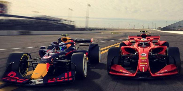 F1 memperlihatkan desain mobil balap mereka untuk masa depan