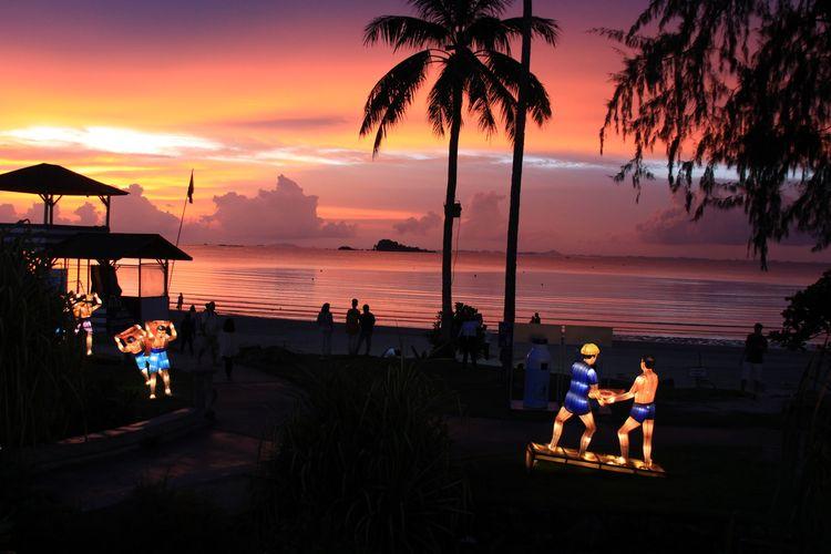 Spot seru untuk latar foto di Lagoi Bay Bintan.