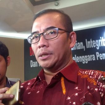 Komisioner Komisi Pemilihan Umum RI (KPU) Hasyim Asyari ditemui di kantor Badan Pengawas Pemilihan Umum RI (Bawaslu), Jakarta Rabu (10/1/2018).