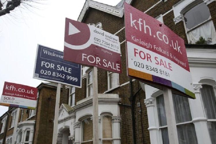 Ilustrasi pasar properti di Inggris.