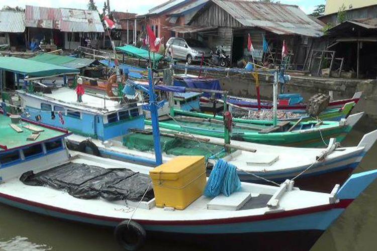 Ilustrasi kapal nelayan