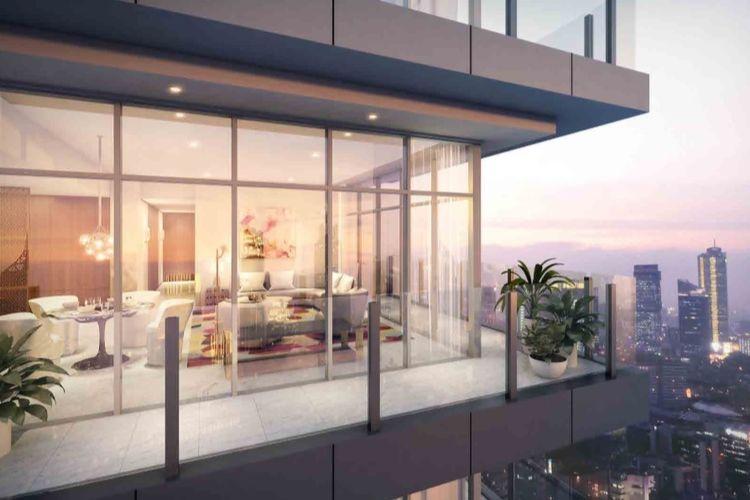 Desain unit Apartemen Verde Two di CBD Kuningan, Jakarta Selatan.