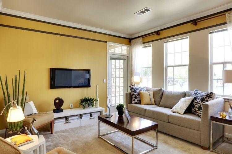 Ilustrasi ruang tamu dengan warna nude