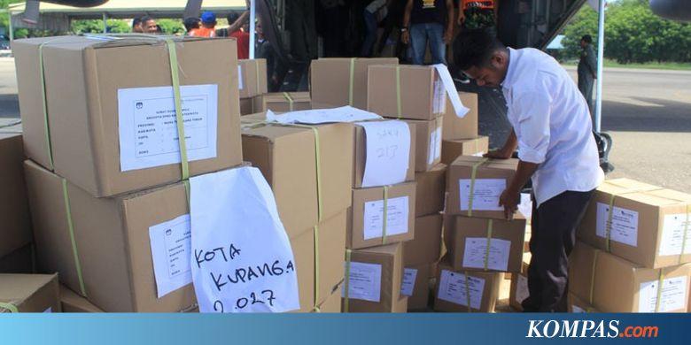 Ratusan Ribu Surat Suara untuk NTT Diangkut 2 Pesawat Hercules