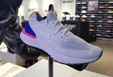 Nike React, Bantalan Ringan yang tidak Meredam Kecepatan Lari