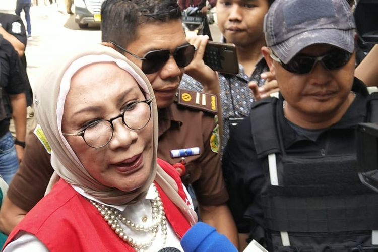Ratna Sarumpaet Hadi di PN Jakarta Selatan, Kamis (11/4/2019)