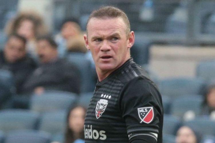 Pesepak bola Inggris yang kini memperkuat DC United, Wayne Rooney.