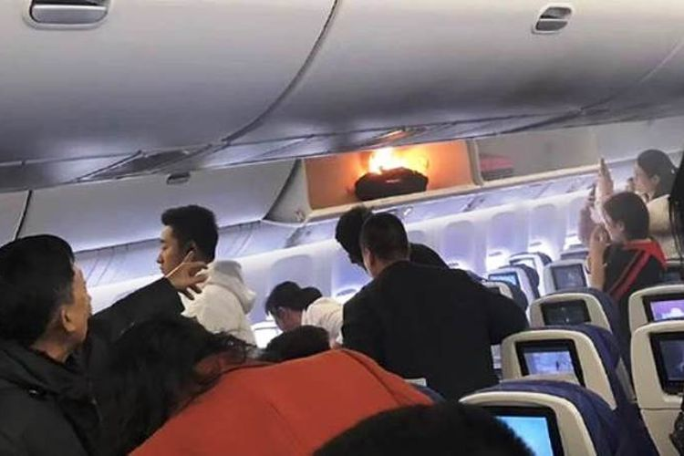 Kebakaran power bank di pesawat