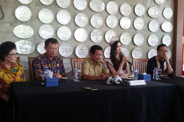 Yayasan Putri Indonesia saat jumpa pers didampingi Pemprov Kepulauan Bangka Belitung.