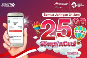 Kuota 25 GB Telkomsel Seharga Rp 90.000, Hanya Bisa Dibeli Hari Ini