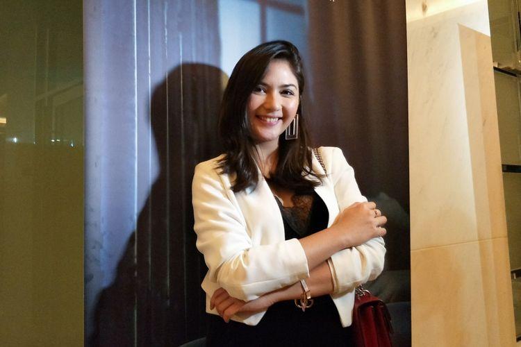 Artis peran Jessica Mila dalam jumpa pers Peluncuran Teaser dan Trailer Film Mata Batin 2 di kantor Soraya Intercine Films, Menteng, Jakarta Pusat, Selasa (4/12/2018).