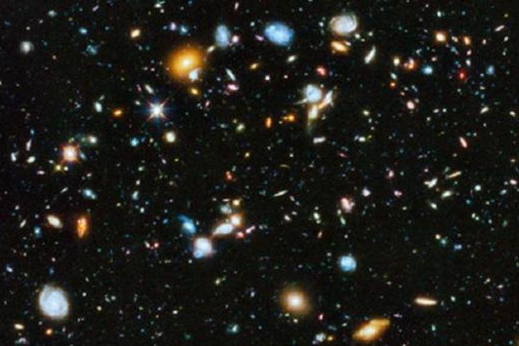 Citra alam semesta paling berwarna, diambil dengan teleskop Hubble.
