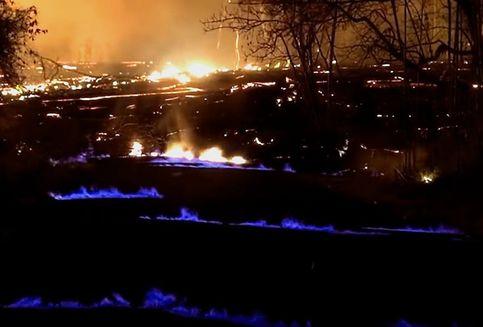 Seperti di Kawah Ijen, Api Biru Juga Muncul di Gunung Kilauea Hawaii