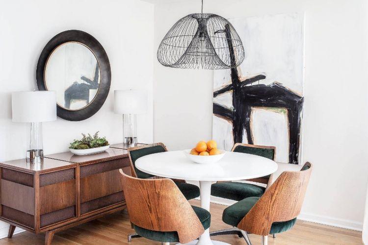 Ilustrasi ruang makan mungil