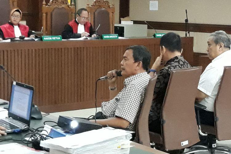 Mantan Direktur PT Duta Graha Indah, Mohammad El Idris bersaksi di Pengadilan Tipikor Jakarta, Rabu (24/10/2018).