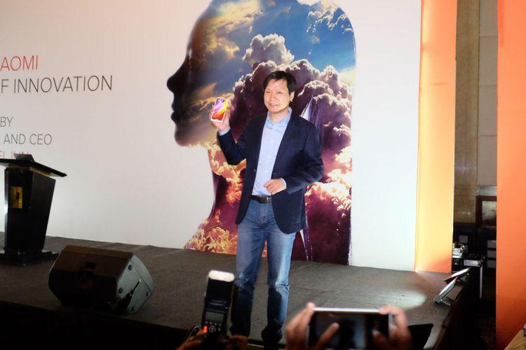 CEO Xiaomi, Lei Jun, saat berbicara di Jakarta, Rabu (27/9/2017)