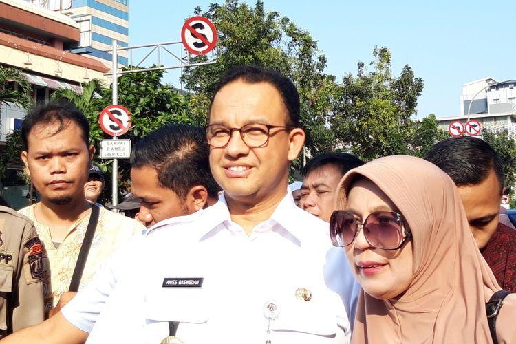 Gubernur DKI Jakarta Anies Baswedan di Jalan MH Thamrin, Jakarta Pusat, Rabu (22/5/2019)