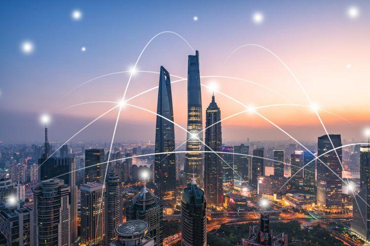 Ilustrasi kota masa depan
