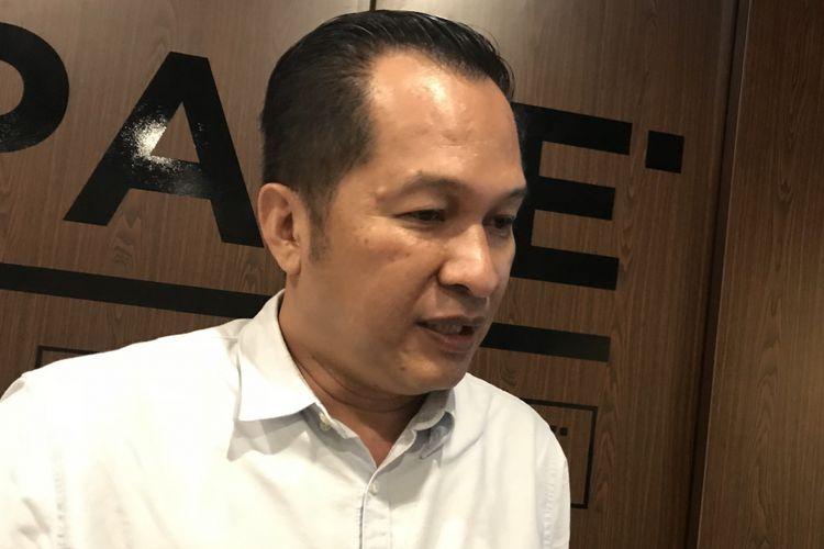 Ketua Harian Asosiasi Fintech Indonesia (AFTECH) Kuseryansyah di Kantor AFTECH Jakarta, Kamis (22/11/2018)