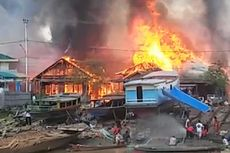 Diduga Korsleting Listrik, 13 Rumah Terbakar