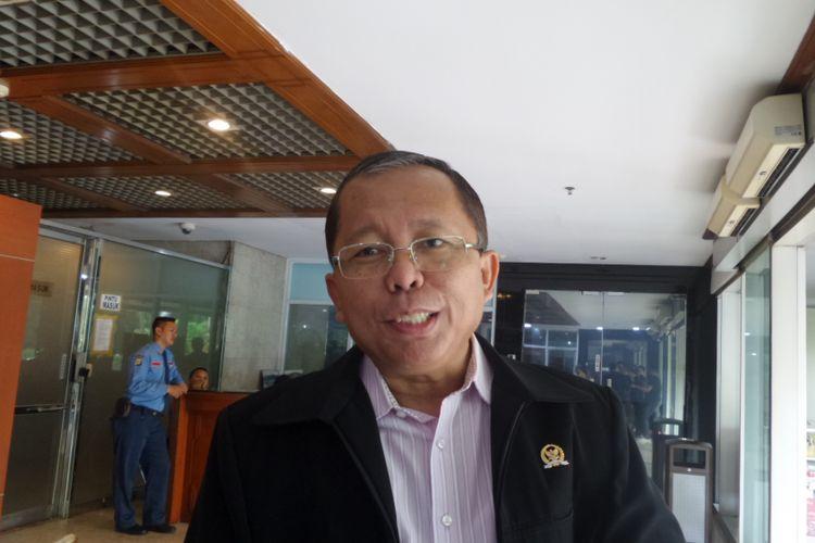 Sekretaris Jenderal DPP PPP Arsul Sani di Kompleks Parlemen, Senayan, Jakarta, Senin (23/10/2017).