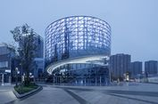 Desain China Textile Center Terinspirasi Gulungan Kain