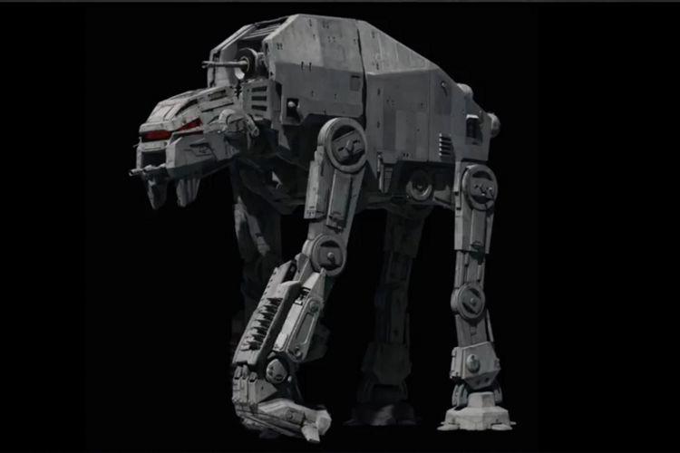 Kendaraan tempur AT-M6 dalam Star Wars: The Last Jedi