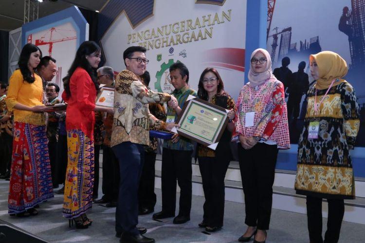 Kementerian Ketenagakerjaan (Kemnaker) menggelar acara penganugerahan Keselamatan dan Kesehatan Kerja (K3) atau K3 Award Tahun 2018 di Jakarta, Kamis (9/8/2018).