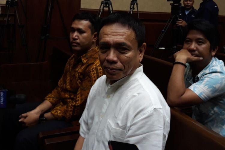 Gubernur Aceh Irwandi Yusuf di Pengadilan Tipikor Jakarta, Senin (26/11/2018).