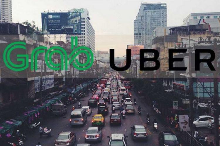 Grab dan Uber dikabarkan bakal merger di Asia Tenggara.