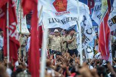 Kampanye di Bali, Prabowo Bangga Pendukungnya Bawa Spanduk Karung Beras