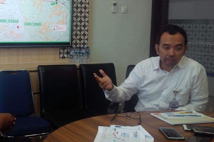 Direktur Utama (Dirut) PT Jasamarga Solo Ngawi (JSN) Ari Wibowo ditemui di Kantornya Ngemplak, Boyolali, Jawa Tengah, Jumat (24/5/2019).